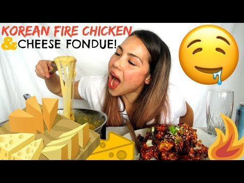 Spicy Fire Korean Chicken & Cheesy Fondue | StORY TiME EMBARRASSING MOMENT