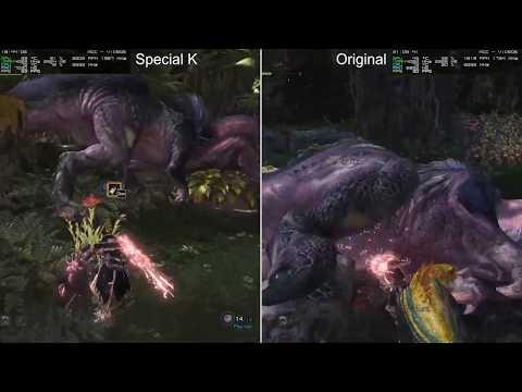 Monster Hunter World Comparación Rendimiento [Special K Vs Vanila] (MOD Abandonado)