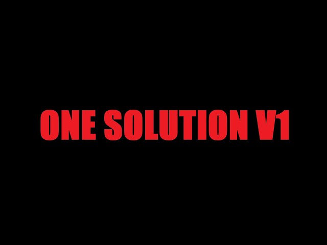 One Solution (Why Can't You Make Them See?) by Shane O'Sullivan V1