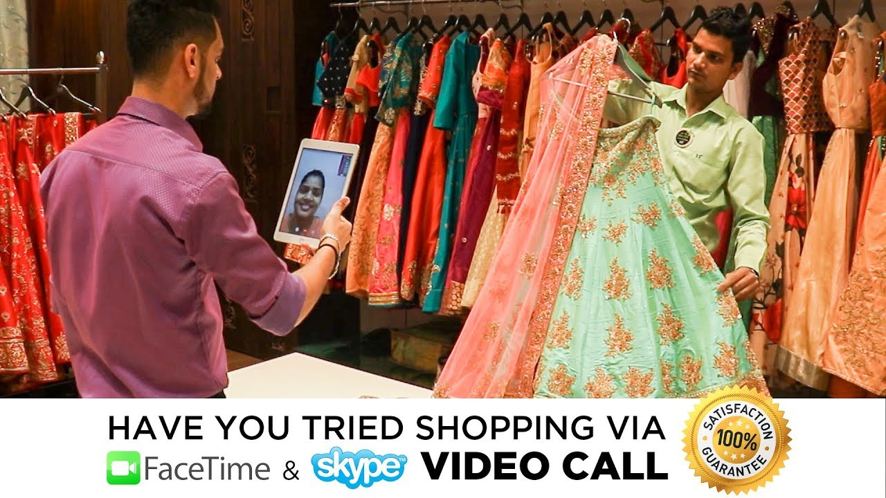 3302d07bb9 Buy Latest Designer Lehenga Choli 2019 Via Video Calling - YouTube