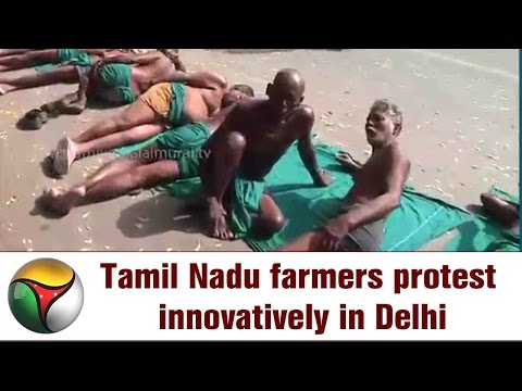 Tamil Nadu farmers protest innovatively in Delhi | Live report