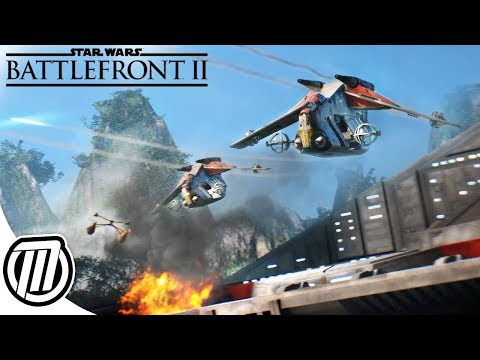 Star Wars Battlefront 2: Vehicle Warfare & Frontlines Combat Gameplay + GIVEAWAY!