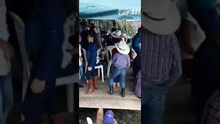 Little cowboy doing the Tootsie Roll dance...