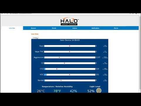 Vape Detector | HALO IOT Smart Sensor | IPVideo Corporation