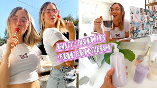 beauty/fashion tips + how to pose for instagram!!