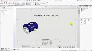 SOLIDWORKS 2016 - Flag Note Bank Part I - Creating a Note Library