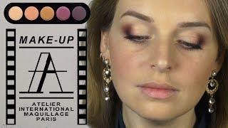 Вечерний макияж с палеткой Atelier T17 в карандашной технике