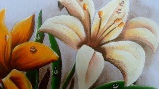Neste vídeo veremos como pintar Lírio Branco