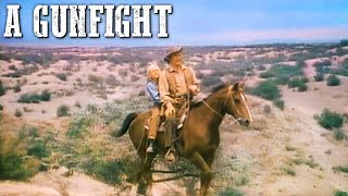 A Gunfight | JOHNNY CASH & KIRK DOUGLAS | Western Movie | Cowboy Film | Wild West