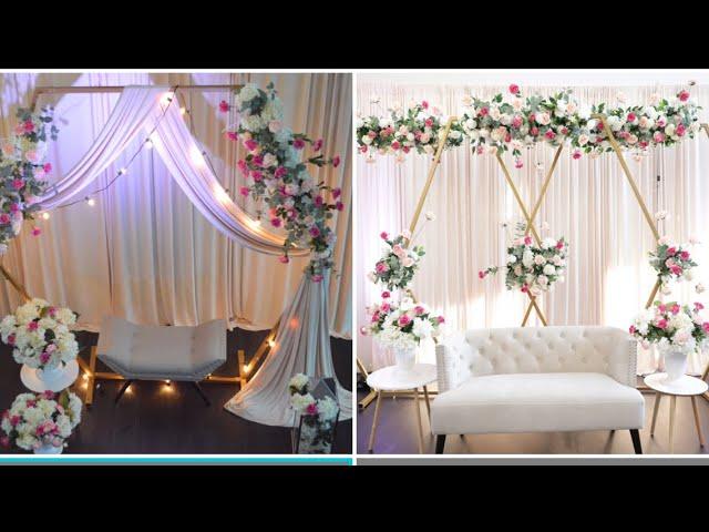 Unboxing eFavormart's Hexagon arch Diy- wedding Decor Diy - Floral Arch Decor