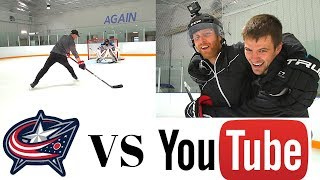 THE NASHER & PAVEL BARBER VS CAM ATKINSON & CAMPY |  YouTubers VS Pros