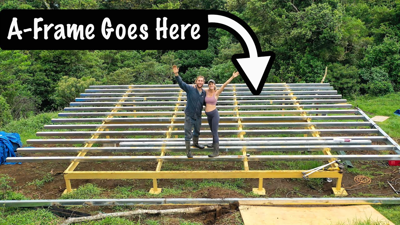 Elevated A-Frame Platform is COMPLETE!!! // couple builds A-frame house