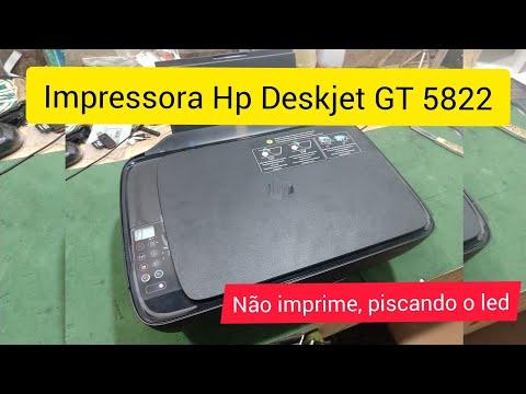 Impressora HP Deskjet GT 5822 Não Imprime Com Erro no Cartucho de Tinta Preto