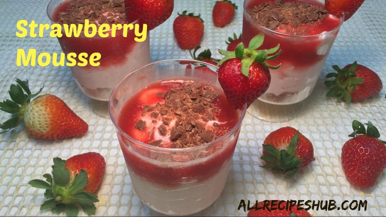 Strawberry mousse recipe how to make strawberry mousse youtube strawberry mousse recipe how to make strawberry mousse sisterspd
