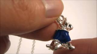 (lba) Buy To Help Others - Yorkshire Terrier Dog Pendant - Silver Plated Animal Themed Necklace
