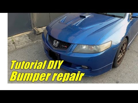 Tutorial DIY Bumper repair 汽车保险杠维修