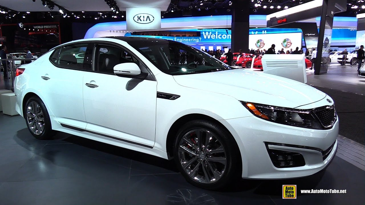 Charming 2015 KIA Optima SXL   Exterior And Interior Walkaround   2015 Detroit Auto  Show