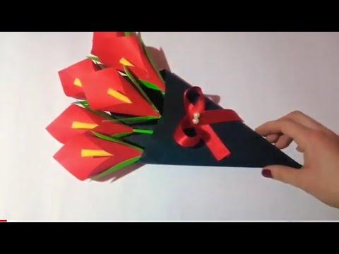 DIY Kağıt Çiçek Buket Yapımı   Doğum günü hediyesi fikirleri