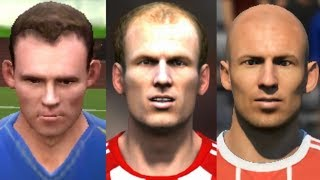 Robben transformation from FIFA 04 to FIFA 18