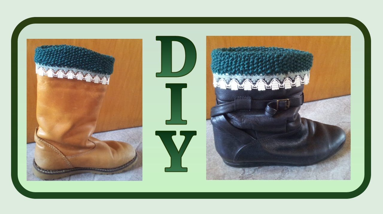 Stiefel Manschetten / Boot cuffs stricken * Julebuergerfee - YouTube