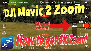 How to enable Digital Zoom on the DJI Mavic 2 Zoom – 4x ZOOM