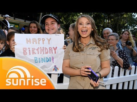 Bindi Irwin turns 21 and joins us from Australia Zoo | Sunrise