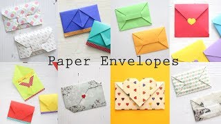 8 Easy Paper Envelopes   DIY Origami Tutorial   Ventuno Art