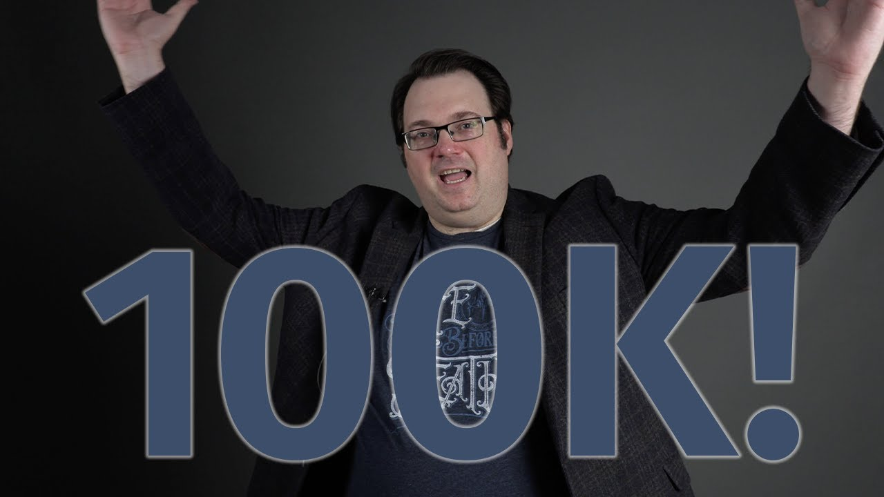 Brandon Sanderson hits 100k Subscribers on YouTube!