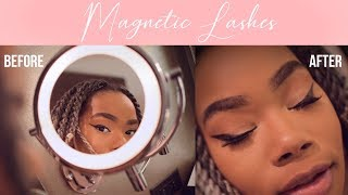 MAGNETIC EYELASHES TRY ON FAIL:  Iris Beauty How to Apply Lashes