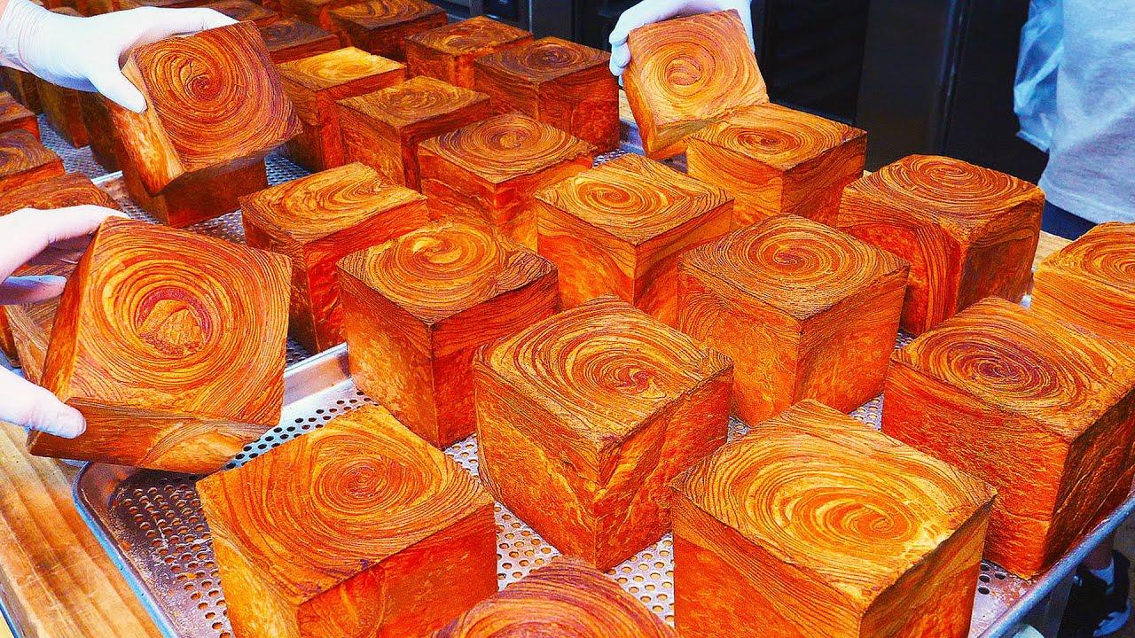 나무토막이 아닙니다! 버터 풍미 가득한 회오리 큐브식빵과 크림 크로와상/ Tornado Cube Bread and Cream Croissant- Bread Factory