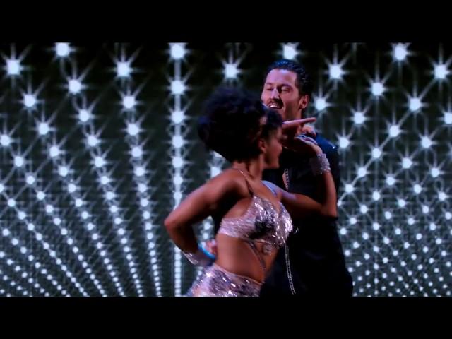 Laurie Hernandez and Val Chmerkovskiy Dances