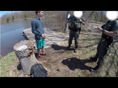 Trout Fishing Catch And Cook: He Got Caught Without His License!!!