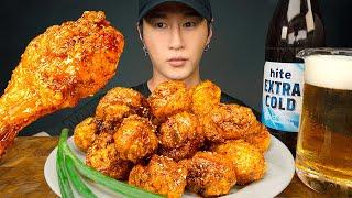 ASMR FRIED CHICKEN &amp BEER MUKBANG  EXTREME JOB  COOKING &amp EATING SOUNDS  Zach Choi ASMR