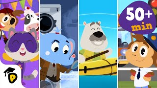 Dr. Panda TotoTime | Season 1 | Full Episodes 7,8,9,10 | Kid...