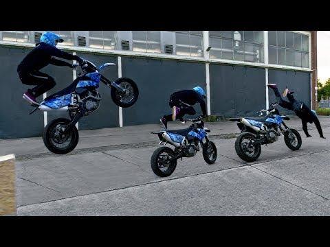 KTM CRASH | ► Pytch Supermoto Stuntriding in Münster ◄