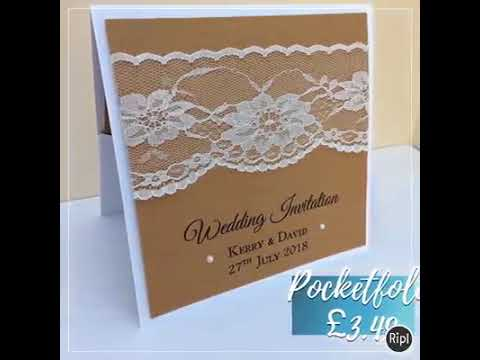 vintage wedding invitations range with vintage lace