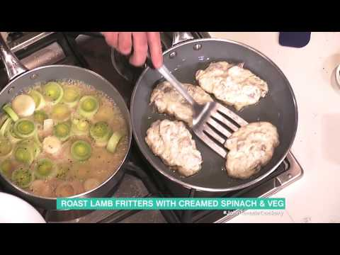John Torode's Lamb Fritters With Minted Broccoli, Peas And Leeks | This Morning
