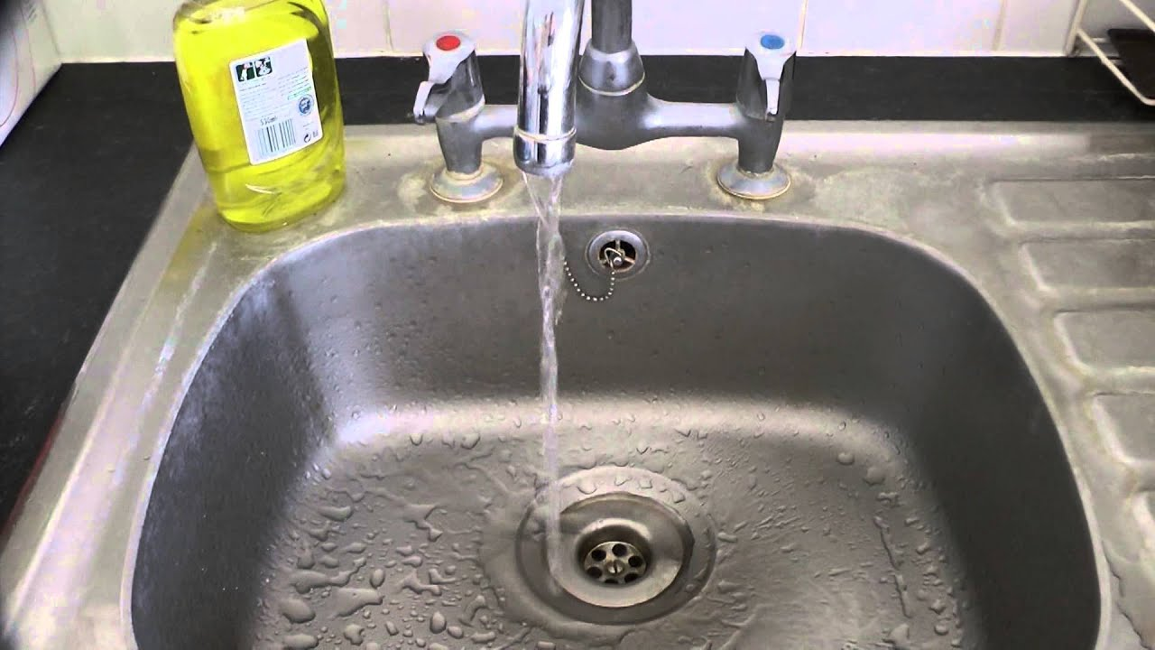 No access to hot water - video starts with hot water tap open ...