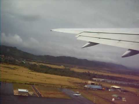 taking off from lihue airport kauai hawaii united airlines 757 march 15 2010