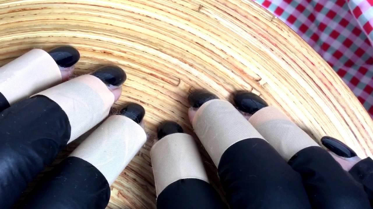 🔰 Nail TAPPING👏long nails🐾 with latex gloves and band aid [[ASMR ...