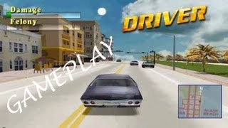 Driver (1999, PS1) Miami Gameplay