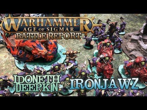 NEW SYLVANETH Vs Ironjawz Age of Sigmar Battle Report