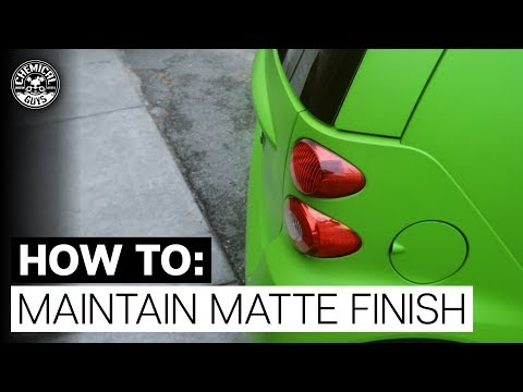 How To Properly Clean & Protect Matte/Satin/Suede Finish Paint & Wraps! - Chemical Guys