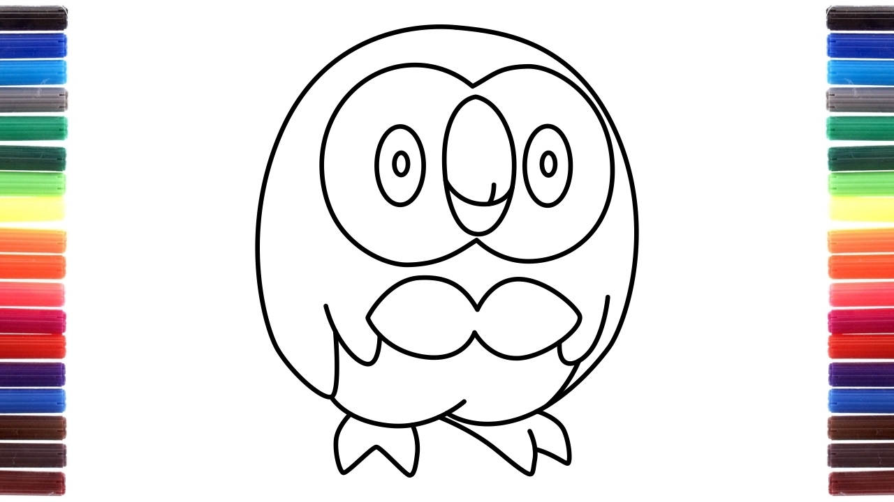 how to draw pokemon sun and moon rowlet dartrix decidueye from