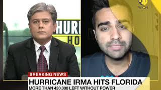 Hurricane horror: IRMA's eyewall reaches Florida keys