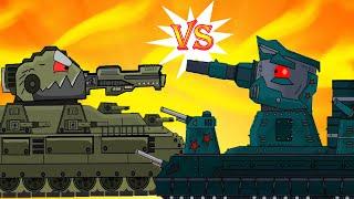 Американский КВ-6 против Советского монстра КВ-44 - Мультики про танки