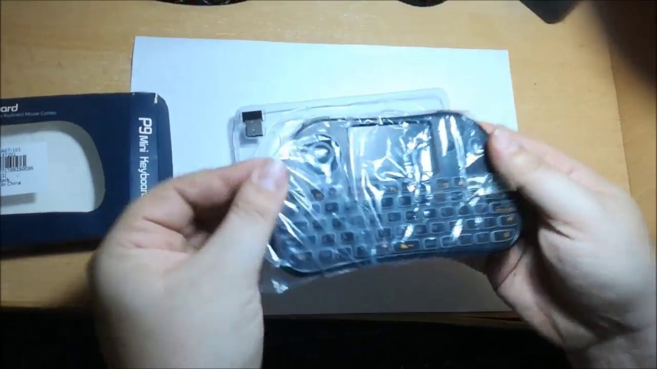 df4647c8728 TZ P9 Wireless Mini Keyboard with Mouse Touchpad - Gearbest - YouTube