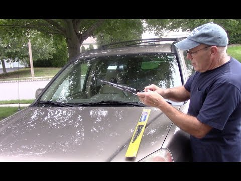 How to replace wiper blades on a Honda CRV, Accord, Civic, Pilot,