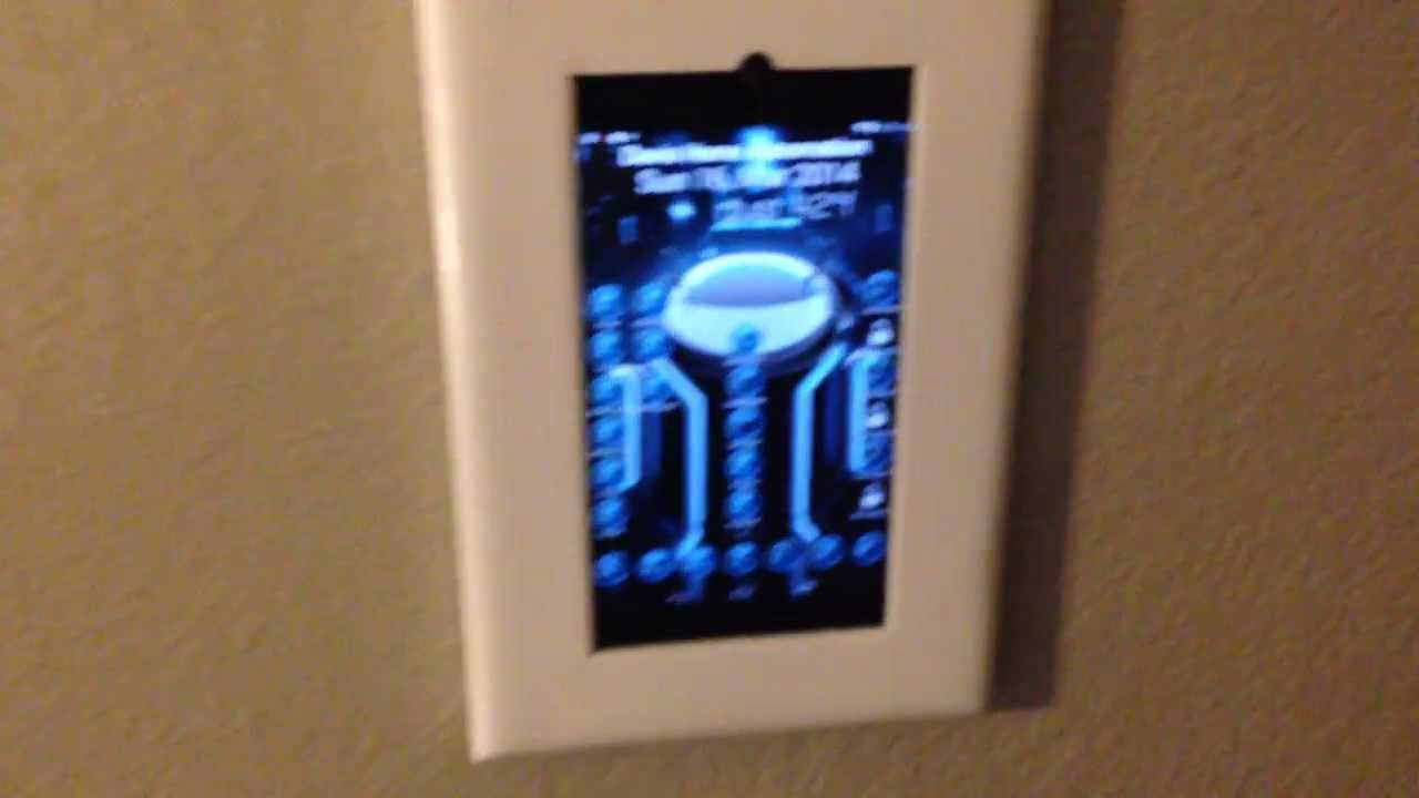 Wall Mounted Tablet Video 2 Youtube