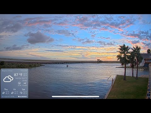 LIVE STREAMING Boat Fishing Cam With Railroad Trains Birds In Galveston Texas